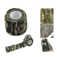 1pc Self-adhesive Forest Camo Wrap Rifle Gun Hunting Camouflage Stealth Tape
