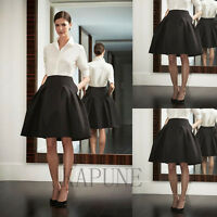 2016 New Short Black Party Priness Taffeta Skirt Custom Size 6 8 10 12 14 16