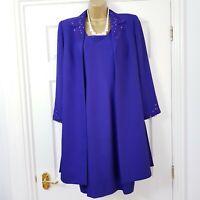 Condici Set Dress Coat Suit Purple Beaded Mother Of Bride Wedding Occasion 12