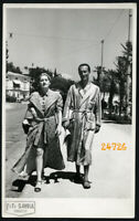 Abbazia Elegant couple walking in robe by Foto Savoia Vintage  Photograph, 1930'
