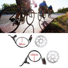 Hydraulic Brake MTB Bike Cycling Disc Brake Set Rotors Front Rear Set w/ Rotors