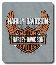 "Harley Davidson 50""x60"" Sweatshirt Blanket - Biker Badge Design"