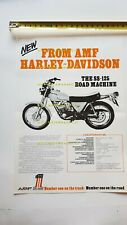 Harley-Davidson SS 125-175-250 1974 depliant ITALIANO originale brochure