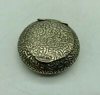 Victorian Tiny Silver Plated Ladies Powder Compact circa 1900