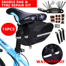 16 in 1 Bike Tyre Repair Bicycle Tool Puncture Socket Kit Saddle Bag Set