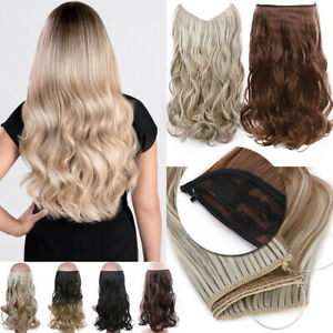 """Real Blonde Hair Extensions Invisible Secret Wire Crown One Piece Long Thick 20"""""""