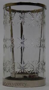 Christmas 2015 Bath Body Works Snowflake Hurricane 3 Wick Candle Luminary