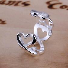 925 Silver INFINITY HEART Symbol Sign Fully Adjustable Open Ring/Thumb Ring Gift
