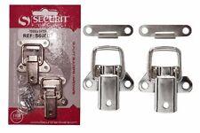 NEW LOCKING CASE CLASP TOGGLE FASTENING TRUNK CATCH /& 2 KEYS 72MM X 45MM CP X2