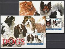 Somalia, 2003 Cinderella issue. Dogs on 2 s/sheets. Scout logo.