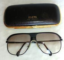 Vintage Gold/Pfeil West Germany Eyeglasses Black Tinted RX Lenses 15mm RARE