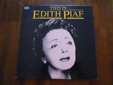 EDITH PIAF ~ THIS IS EDITH PIAF ~ LP 1980 ~ EX/EX ~ UNPLAYED