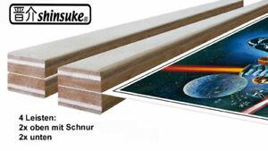 Holz-Posterleisten, 2 Paar, Magnetverschlüsse, diverse Grössen und Varianten