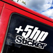 5+ HP Horespower HP Funny Car Stickers PET DIY Decal JDM Dope Drift Window Truck