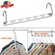 2*Metal Wonder Magic Hanger Clothes Closet Space Saving Clothing Organizer Hooks