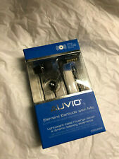 AUVIO 3300926 BLACK METAL ELEMENT EARBUDS WITH MIC ***NIB***