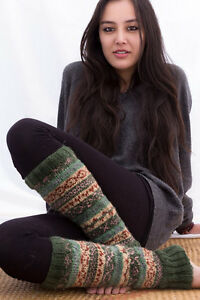 Knit Wool Leg Warmers-Soft and Warm Woolen Legwarmers