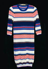 Striped Knit  Dress in 3/4 sleeves