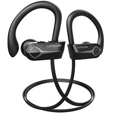 Letscom Bluetooth Headphones, 15Hrs Playtime Wireless 5.0 Earbuds Ipx7 Waterp.