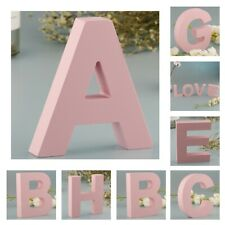 Blesiya Wooden Pink 26 Alphabet Marquee Letters Wall Door Hanging Sign A-Z
