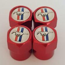 Mustang Rojo Coche Válvula Casquillos de polvo de Rueda de Aleación Todos Los Modelos