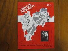 """1975 SAMFORD Men's Basketball Program(13 Signed/DWYANE BARNETT/EARL """"PEARL"""" HILL"""