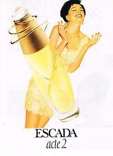 PUBLICITE ADVERTISING 034   1995   ESCADA  parfum  ACTE 2