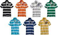 Aeropostale men STRIPED POLO T shirt XS,S,M,L,XL,2X,3XL