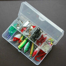 110 Pieces fishing set Lure soft Spoon Mimmow Popper Pencil frog Hook Tackle box