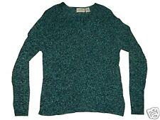 St John's Bay Large Green & White Ribbed Sweater