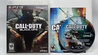 CALL OF DUTY BLACK OPS PlayStation 3 Video Game COMPLETE Rated M Tested & Works