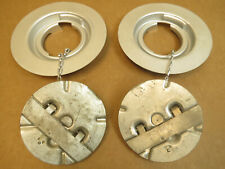 P-51 Mustang WWII Warbird Aircraft (2) Fuel Caps Complete With Flanges NOS