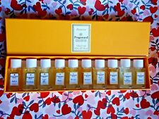 FRAGONARD Vintage Parfums Boxset 10 x 2 ml (10 x .07fl.oz) eau fantasque...RARE