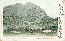 Ansichtskarte Kolonien Deutsch-Südwest-Afrika Herero-Werft Erongo-Gebirge 1906