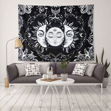 Sun and Moon Tapestry Black/White Living Room Bedroom Decoration Wall Hanging