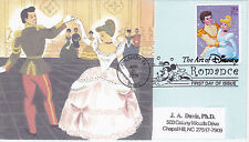DR J A DAVIS PhD CACHETS FIRST DAY COVER FDC 2006 ART OF DISNEY ROMANCE PRINCE &