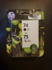 HP 74 Black 75 Tri-Color Ink Cartridges Combo Pack CC659FN 09/2018 free SHIPPING