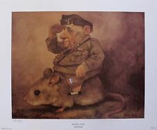 Charles Bragg NATIONAL HERO 1970 Plate Signed Color Art Lithograph