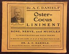 Antique Dr A.C Daniels Oyster-Cocus Liniment Veterinary Medicine Boston Brochure