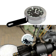 Universal Motorcycle Handlebar Electronic clock Alloy casing Shockproof Durable