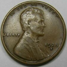 Natural Brown Lincoln Wheat Cent 1928 D Satisfaction Guaranteed XF Grade