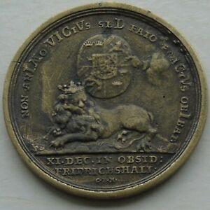 Charles XII Medal of Sweden, Lion & Sheild, Brass Restrike? 1697 - 1718