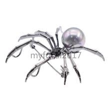 Spider Pearl Brooch Pin Fashion Jewellery Lapel Accessory Breastpin Gift Unisex
