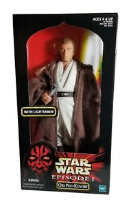 STAR WARS EPISODE I OBI-WAN KENOBI HASBRO 12 INCH ACTION FIGURE NIB