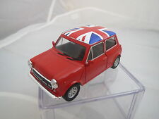 Welly Mini Cooper 1:38 (rot-weiß-blau) mit Rückzugsmotor TOP + OVP