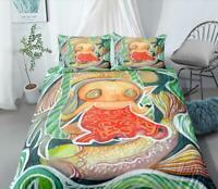 3D Cute Carp Girl Elves KEP6764 Bed Pillowcases Quilt Duvet Cover Kay