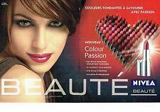 Publicité Advertising  0817  2006  les rouges à lèvres Nivéa Beauté (2p)