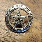 Texas Rangers Dept of Public Safety Badge Lapel Pin