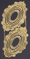 Alte gold geprägter Dresdner Pappe Ornamente Goldrahmen - DIE CUT SCRAPS