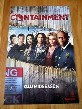 CONTAINMENT sdcc 2015 WB Limited Casts Signed Poster DAVID GYASI CHRISTINA MOSES